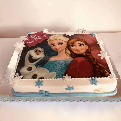 Торта Анна и Елза 2
