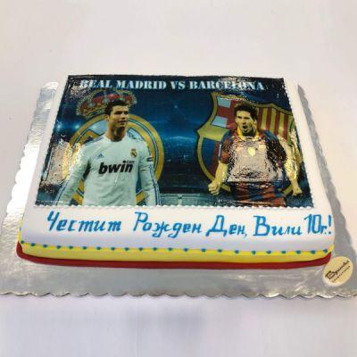 Торта Роналдо и Меси