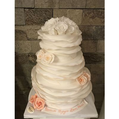 Торта Бели рози - 02