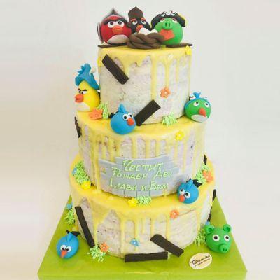 Торта Angry Birds 2