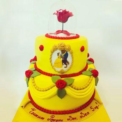 """Торта """"Красавицата и Звяра"""""""