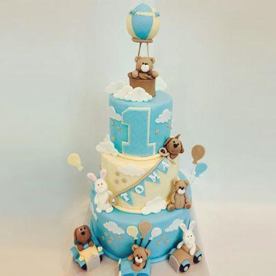 Торта Мече и балон 2