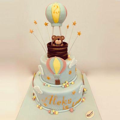Торта Мече и балон