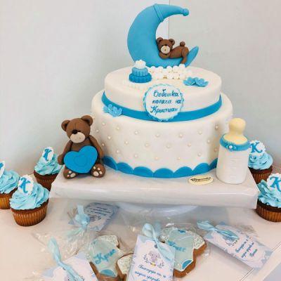 Торта за Погача-Мече и бебе 3