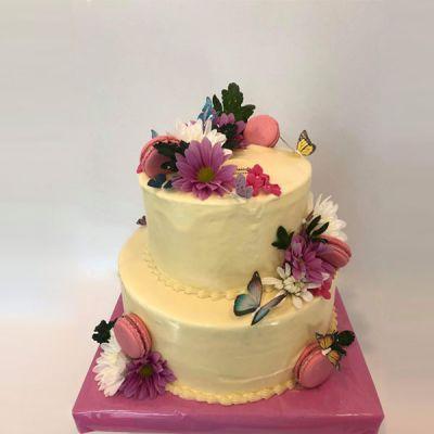 Торта с Цветя и пеперуди 3