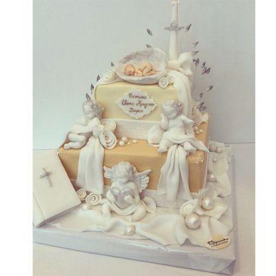 Торта за кръщене Angels