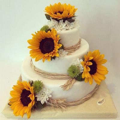 Сватбена торта - Слънчогледи