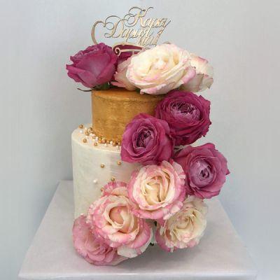 Сватбена торта - Рози