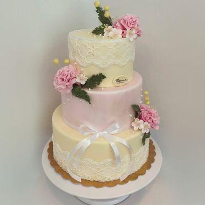 Сватбена торта - Дантела
