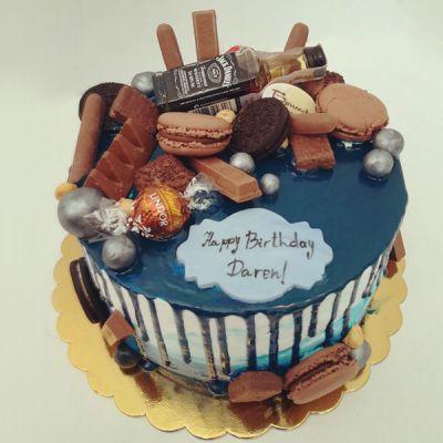 """Торта """"Jack Daniels-Blue"""