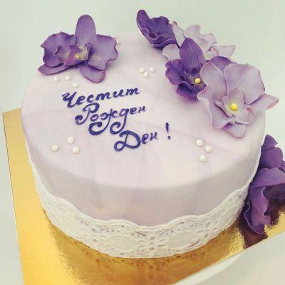 Торта лилави Орхидеи