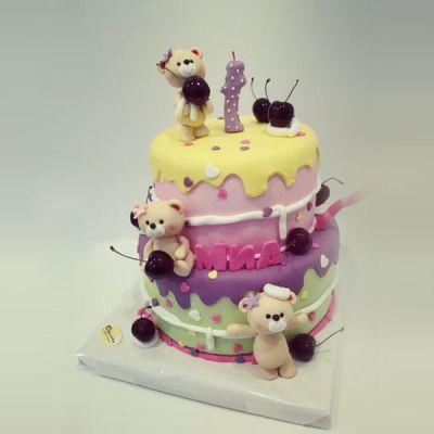 Торта Мечета и черешки