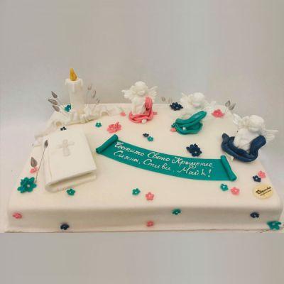 Торта за кръщене - 3 Angels