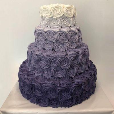 Торта Лилави рози