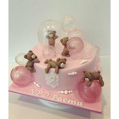 Розова торта Мечета и балони