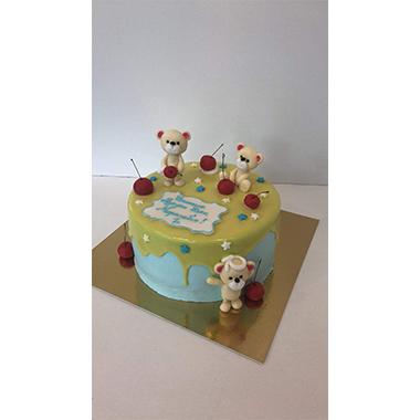 Торта черешки и мечоци