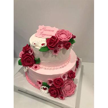 Торта цветя и рози