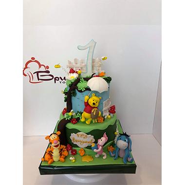 Торта Пух и приятели