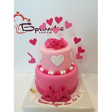 Торта Розов нюанс