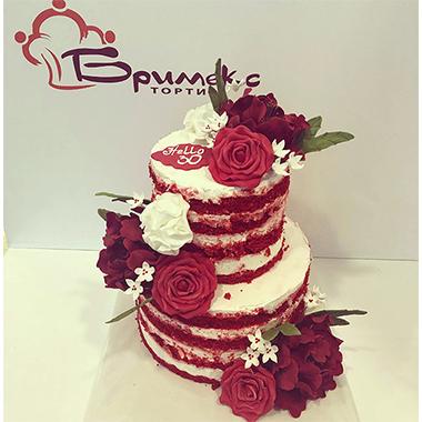 Сватбена торта Бордо