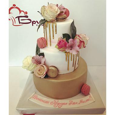 Сватбена торта Gold