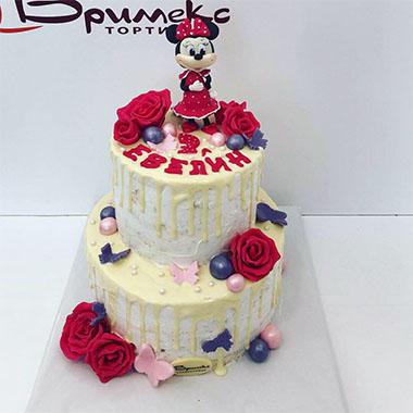 Торта Мини Маус и рози