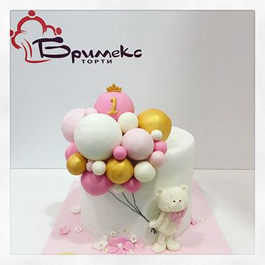 Торта Меченце и балони