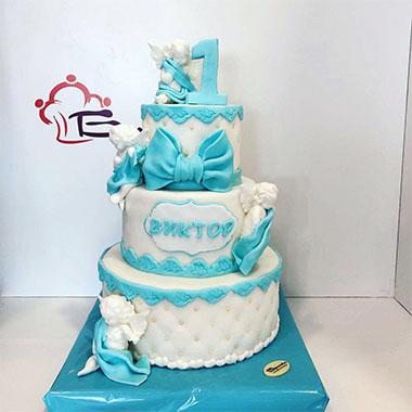 Торта за кръщене Ангелчета