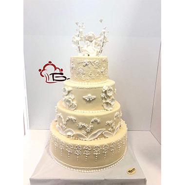Торта за кръщене Бял ангел