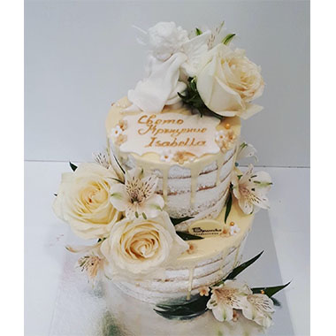 Торта за кръщене Рози