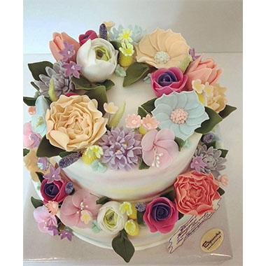 Сватбена торта Цветна градина