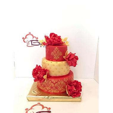 Сватбена торта Червен Мак
