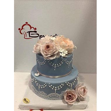 Сватбена торта Рози и дантела