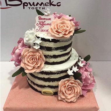 Торта Розов цвят