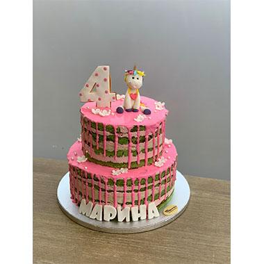 Торта Розов Еднорог