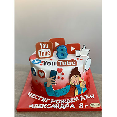 Торта YouTube Star