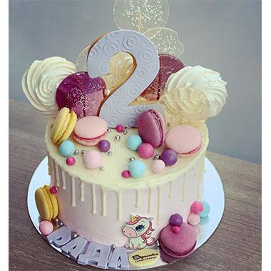 Торта Еднорог с Макарони