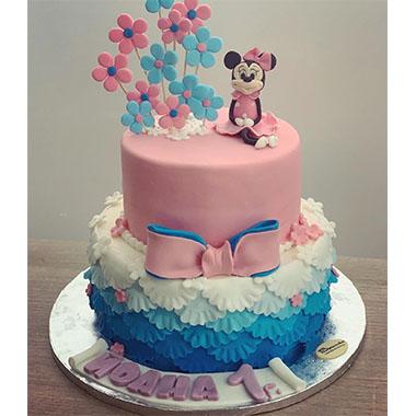 Торта Мини Маус Цветя