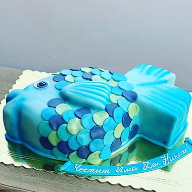 Торта Синя Рибка