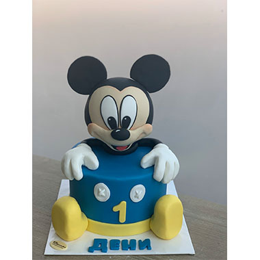 Торта Мики Маус в синьо