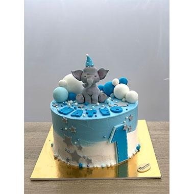 Торта Слонче в синьо