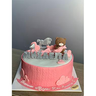 Торта Мечо в розово