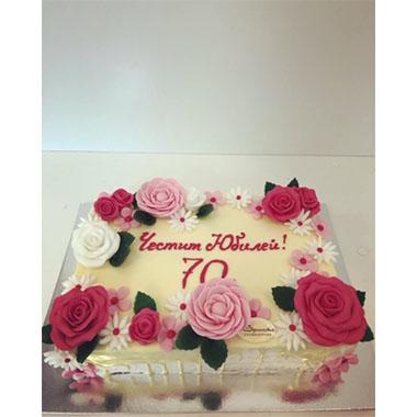 Торта Цветна 2