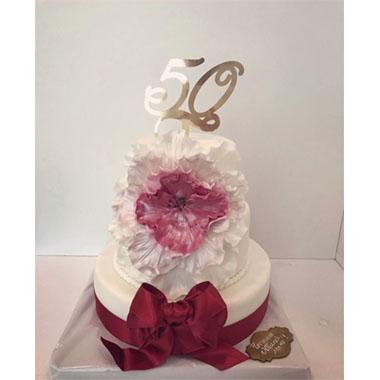 Торта Цвете и панделка