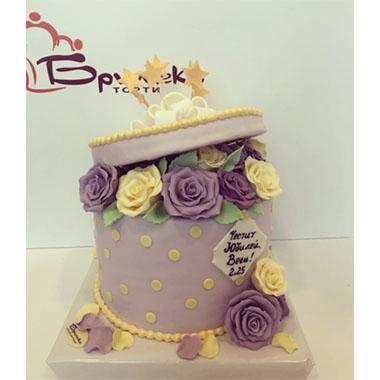 Торта Кутия с Рози