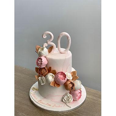Торта Рози и Божури