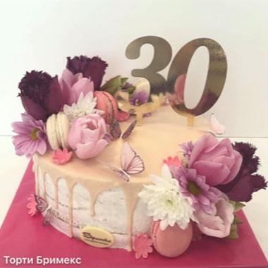 Торта Пеперуди и Цветя 2
