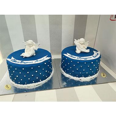 Торта Ангелчета в синьо