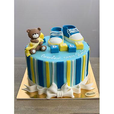Торта Меченце в синьо