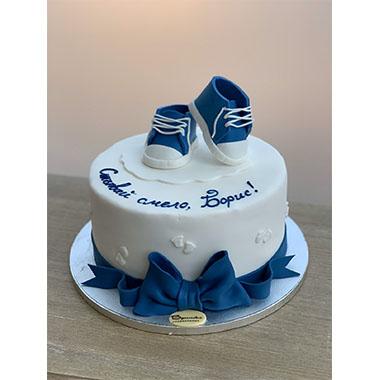 Торта Синьо и бяло